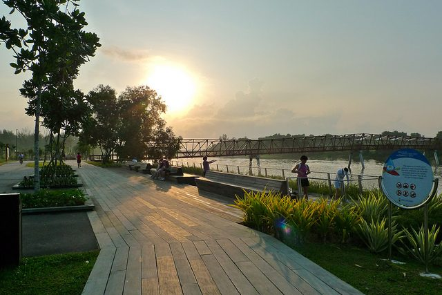 Hiking Trails Singapore Punggol Waterway Park Sunset