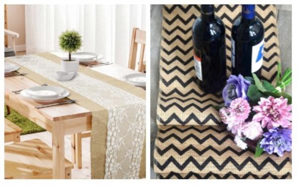 Room Decor Ideas Rustic Table Cloth