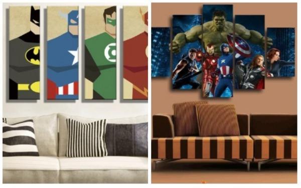 Room Decor Ideas Superhero Picture Frame