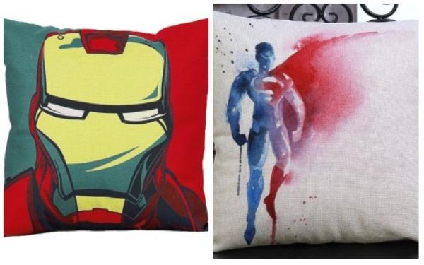 Room Decor Ideas Superhero Throw Pillow
