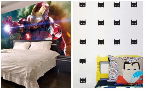 Room Decor Ideas Superhero Wallpaper