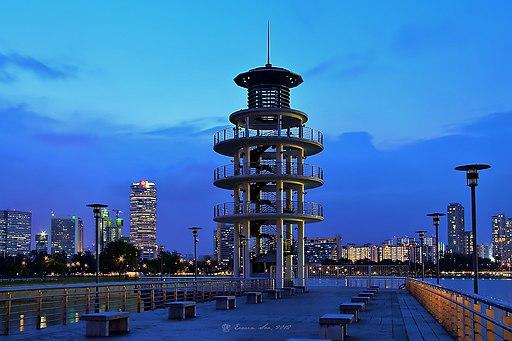 Tanjong Rhu Lookout Tower Sunset Singapore