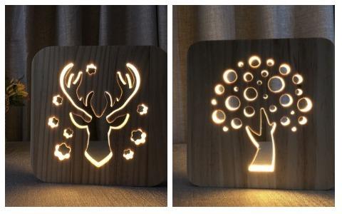 Room Decor Ideas Wooden Table Light