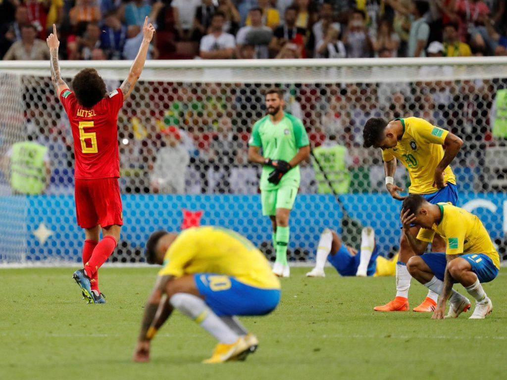 Brazil lose to Belgium