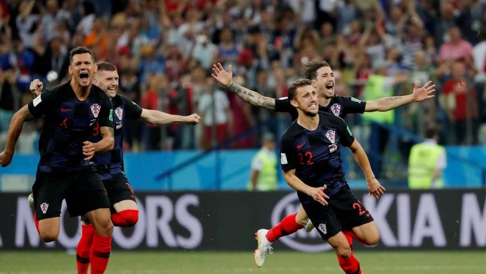 Crotia Win Over Denmark