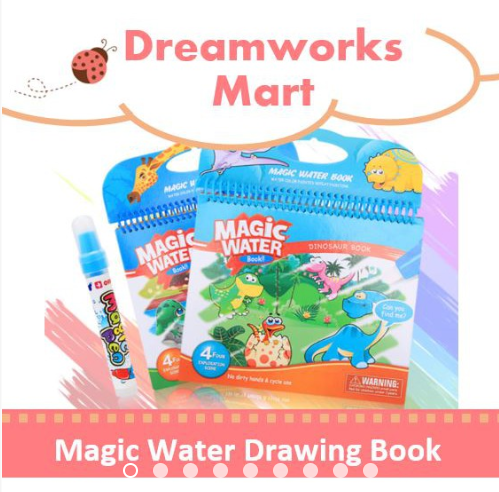 Magic Water Drawing Colouring Kids Book