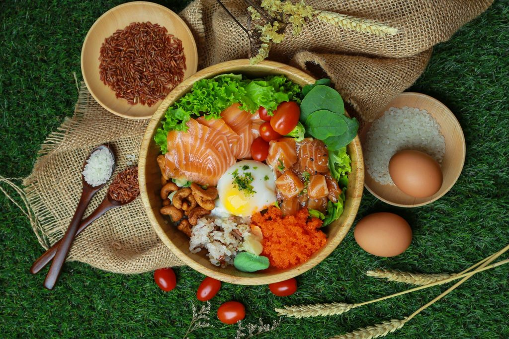 salmon samurai poke bowls in Singapore