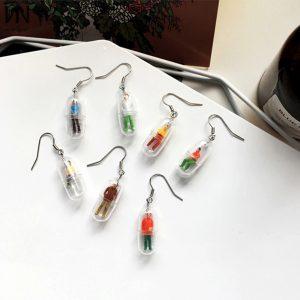 Human Pill Earrings