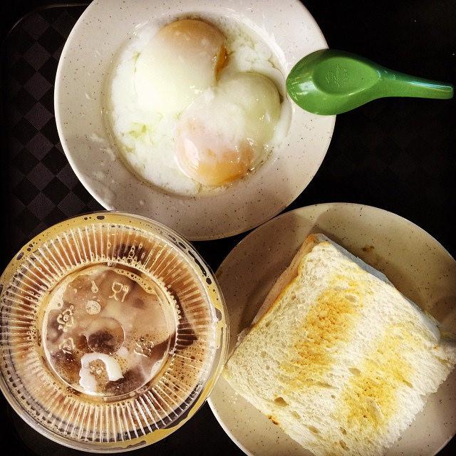 Eggs Toast Kopi Breakfast Singapore