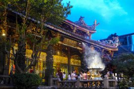 Hungry Ghost Festival Singapore Temple Prayer