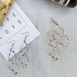 Minimalist Metal Spiral Earrings