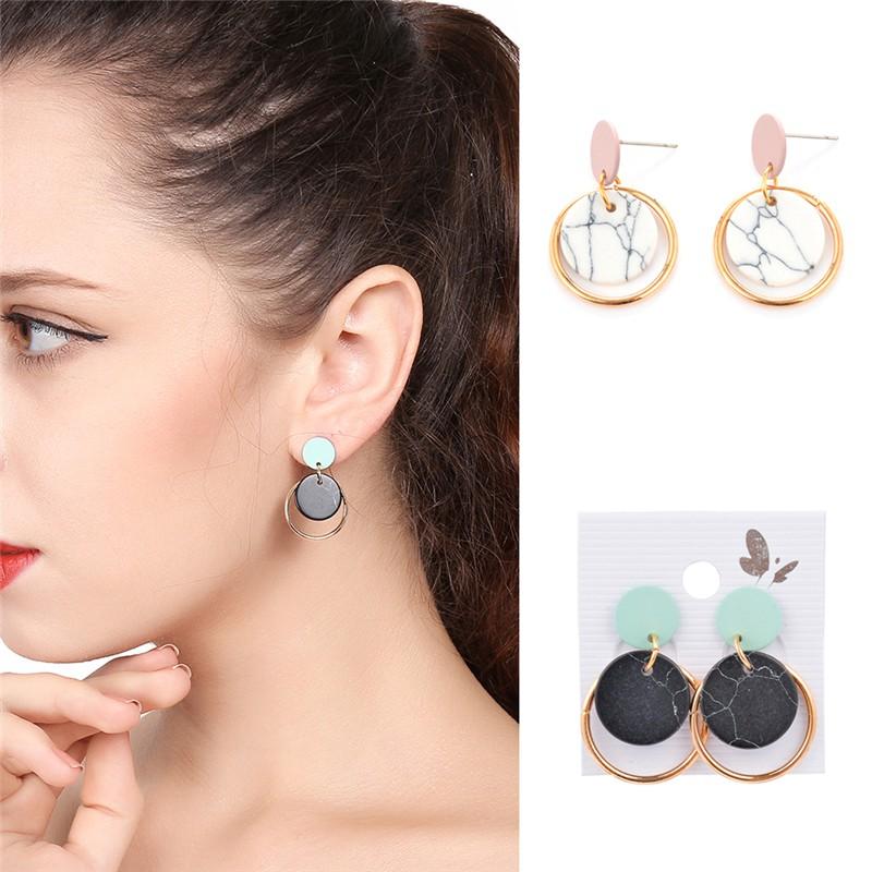 Coloured Marble Earrings