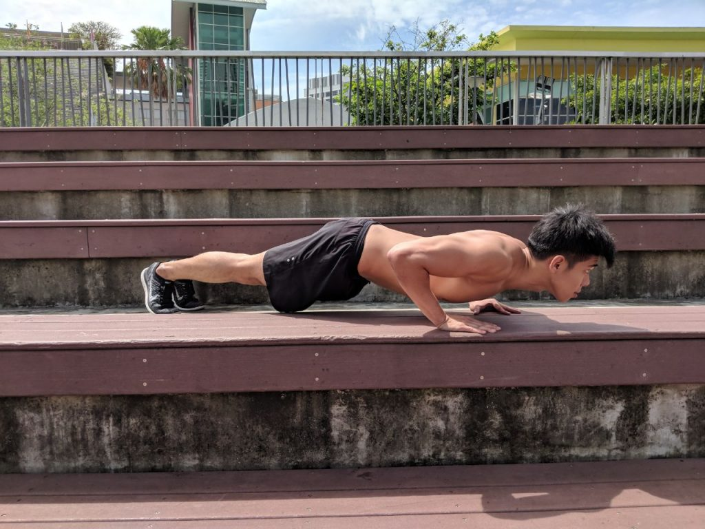 basic push up easy home workout plan