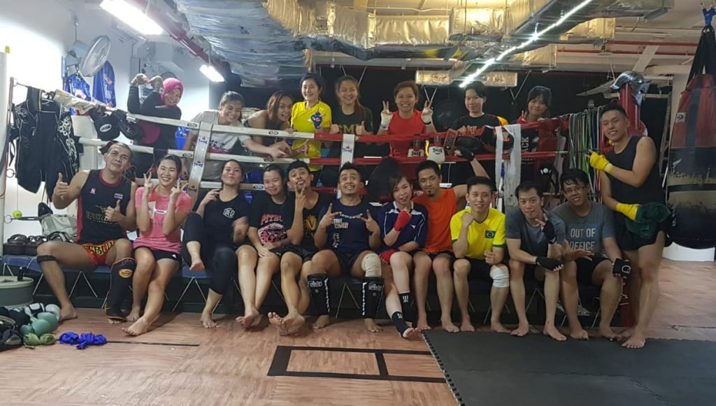 SMU strike combat muay thai gyms in singapore