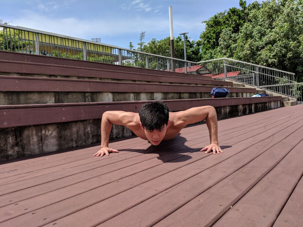 wide arm push up easy home workout plan