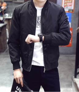 man in bomber jacket