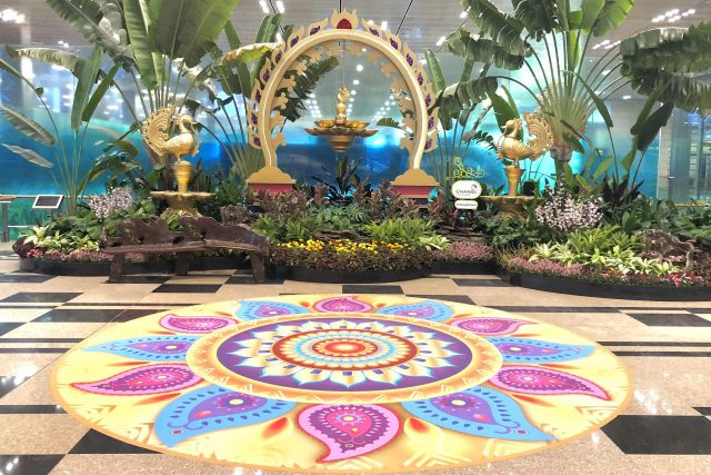 changi airport horticulture deepavali