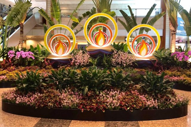 changi airport horticulture deepavali lamps lights
