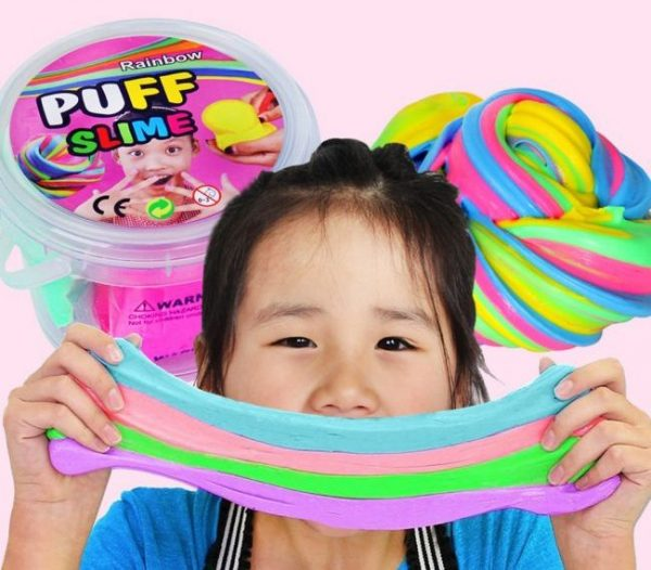 Girl with puff slime