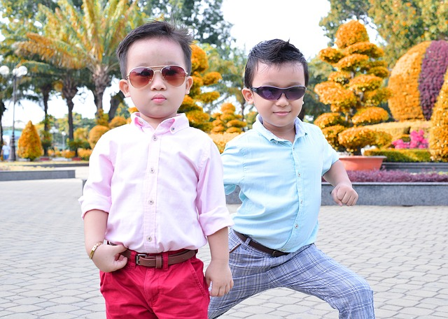 cute fashionable boys