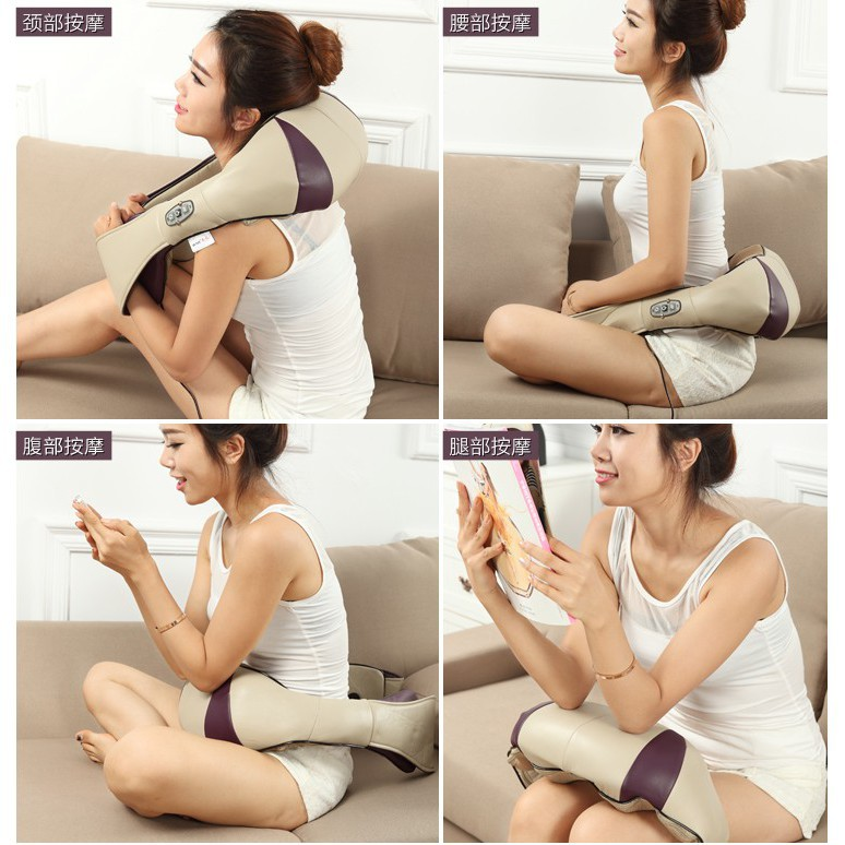 Kneading back and neck massager