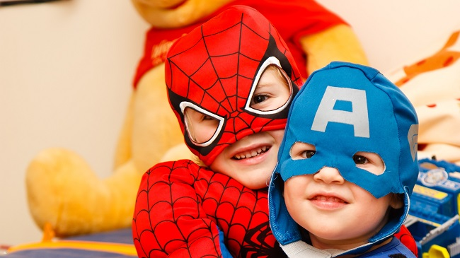 children costume spiderman captain america