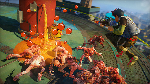 sunset overdrive super hero game