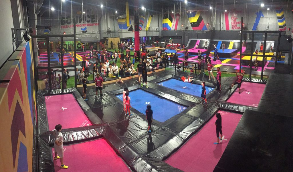 bounceinc trampoline park at scape
