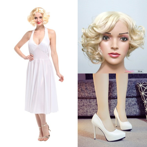 halloween costume ideas singapore marilyn monroe wig dress white