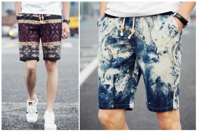men's fashion singapore printed bermuda shorts