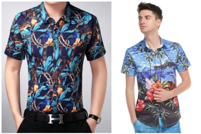 men's fashion singapore tropical shirt