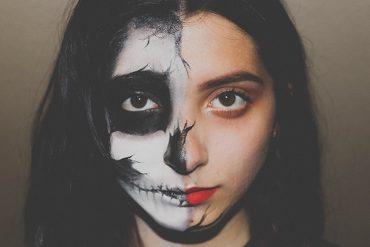 Half dead halloween makeup easy