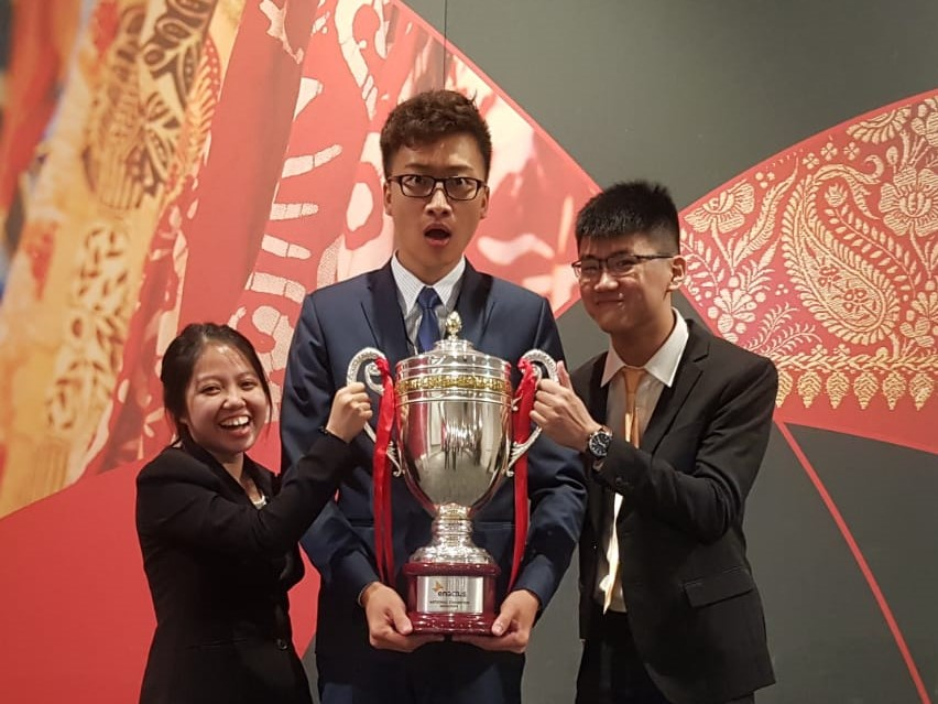 Shopee Career eCommerce Singapore Interview Lifeatshopee Auyong Yu Lin Enactus Competition 2018 Champion Trophy NTU Social Entrepreneurship Intute