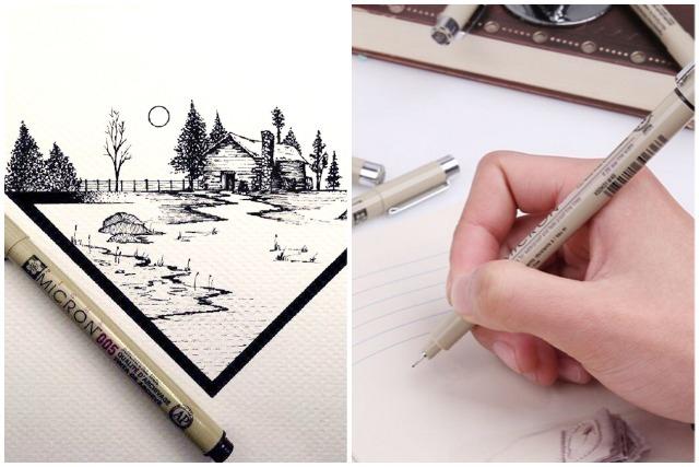 modern calligraphy fine line pen sakura zebra