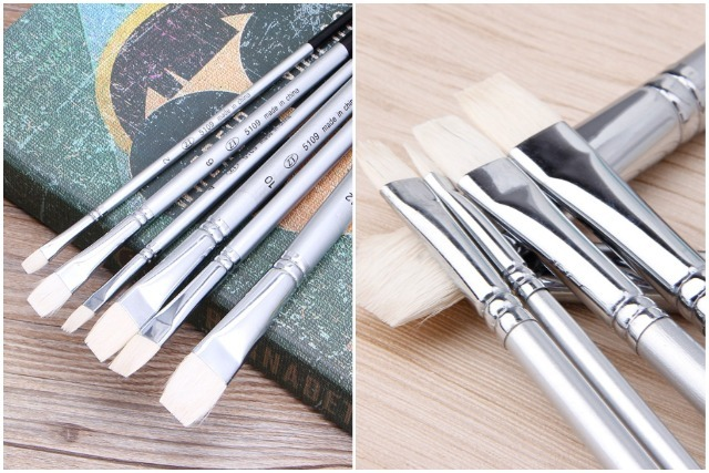 modern calligraphy flat head brush