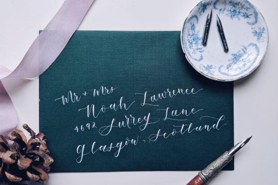 modern calligraphy font design idea