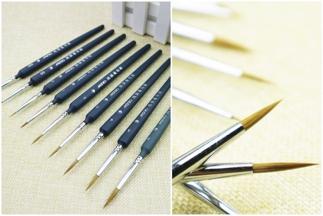 modern calligraphy pointed tip brush head