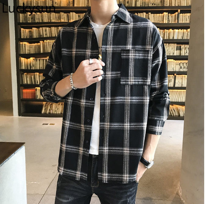 plaid flannel men fashion in singapore