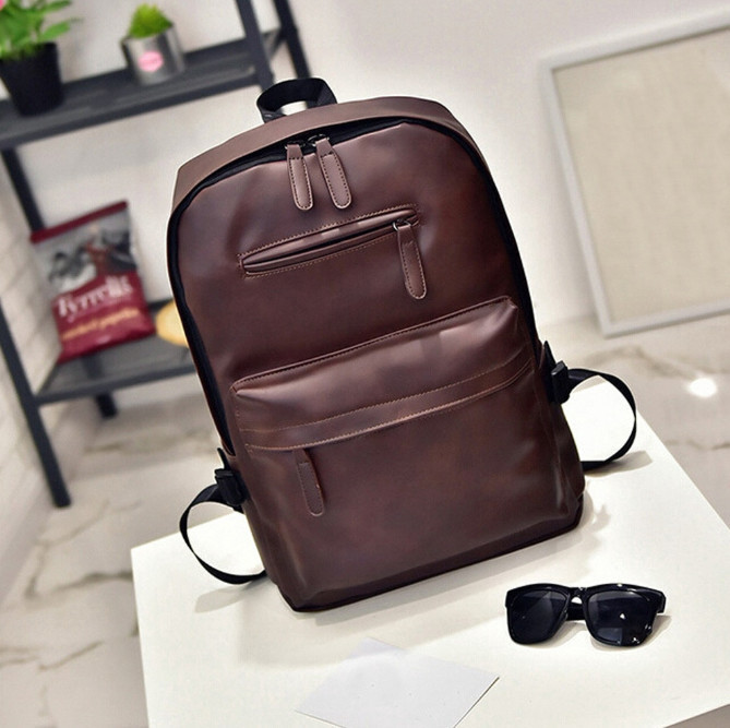 faux leather backpack men fashion singapore