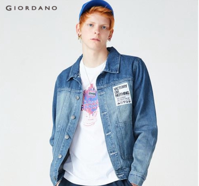 giordano denim jacket men fashion in singapore
