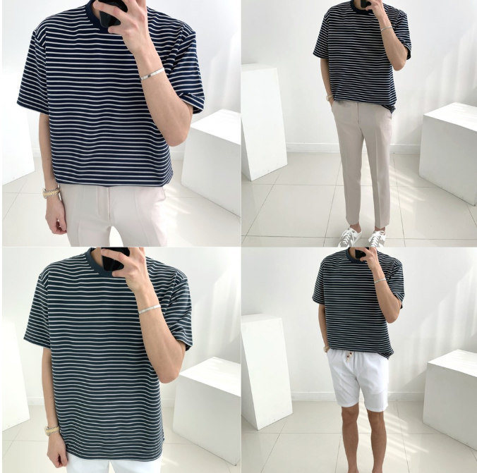 striped shirt men fashion in singapore