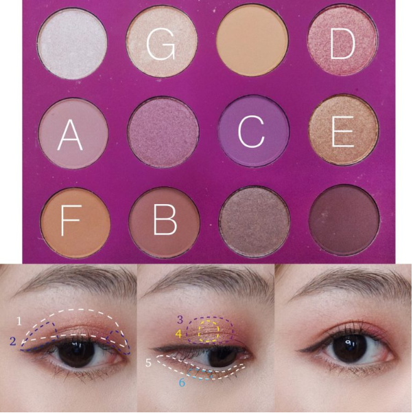 colourpop you had me at hello eyeshadow palette budget makeup look