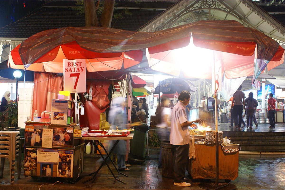 boon tat street food market