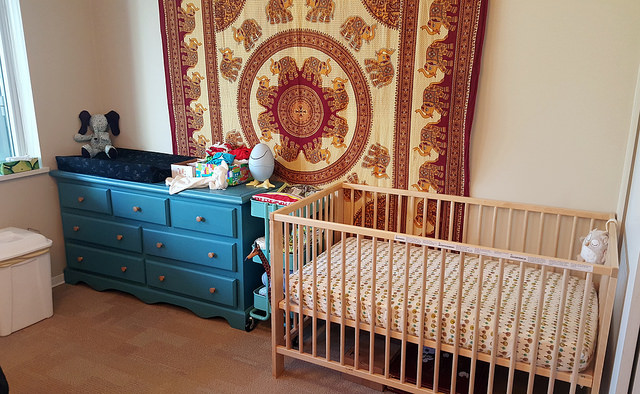 bohemian baby room design boho throw