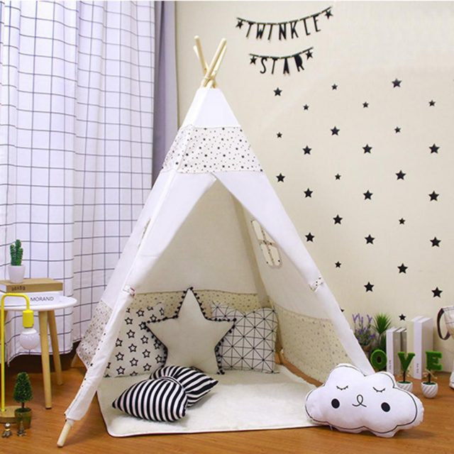 scandinavian nordic baby room design kids tent