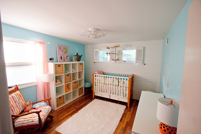 playful baby room design rug