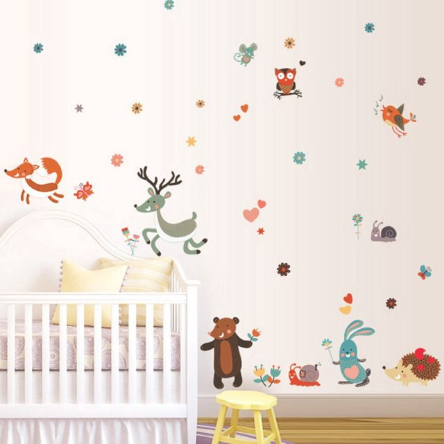 zoo animal wall decal baby room design