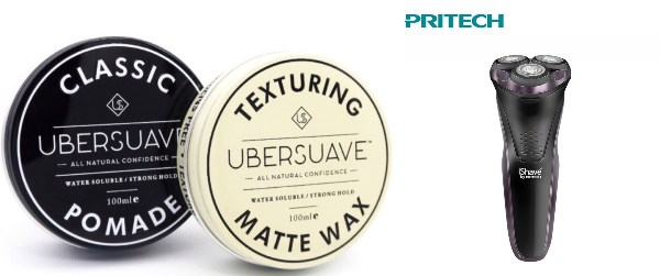 secret santa gift ideas for colleagues masculine groomer ubersuave pomade wax pritech shaver