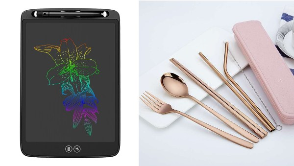 secret santa gift ideas for colleagues eco friendly digital writing tablet reusable cutlery set