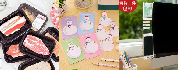 secret santa gift ideas for colleagues post-it sticky note snowman computer display organiser